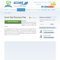Score Quick Start Business Plan image